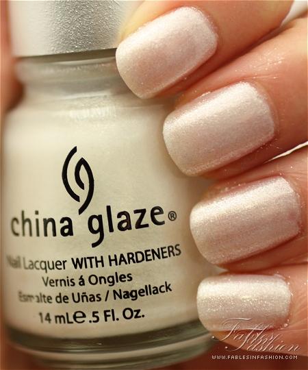 White Shimmer Nail Polish a White Frosty Shimmer Polish