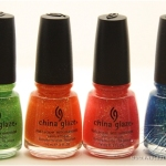 China Glaze Fun in the Sun Nail Swatches