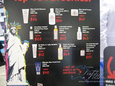 Kiehl's Price Drop in Australia