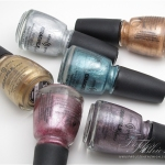 China Glaze Crackled Glaze Metals Collection Swatches, Review and Photos