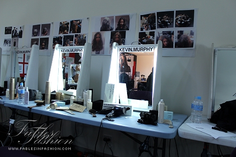 Backstage at Myer's Autumn Winter Fashion 2012 Launch