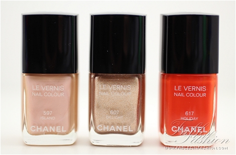 essie meet me at sunset vs chanel holiday