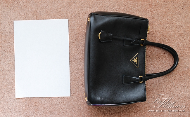 Prada Saffiano Lux Small Tote Review and Photos - Fables in Fashion